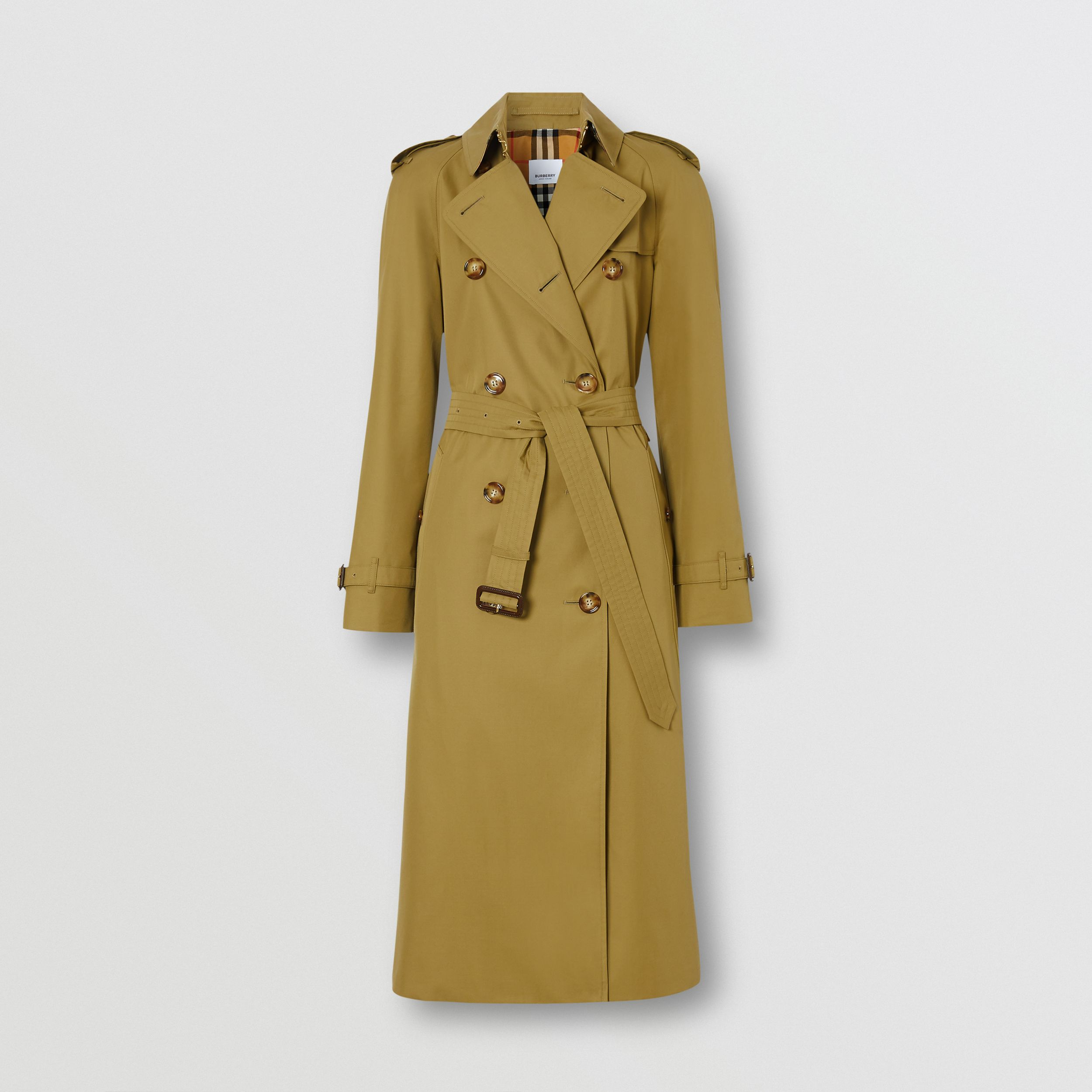 The Waterloo Trench Coat in Rich Olive - Women | Burberry - 4