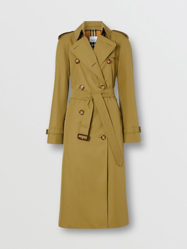 The Waterloo Trench Coat in Rich Olive - Women | Burberry United Kingdom - cell image 3