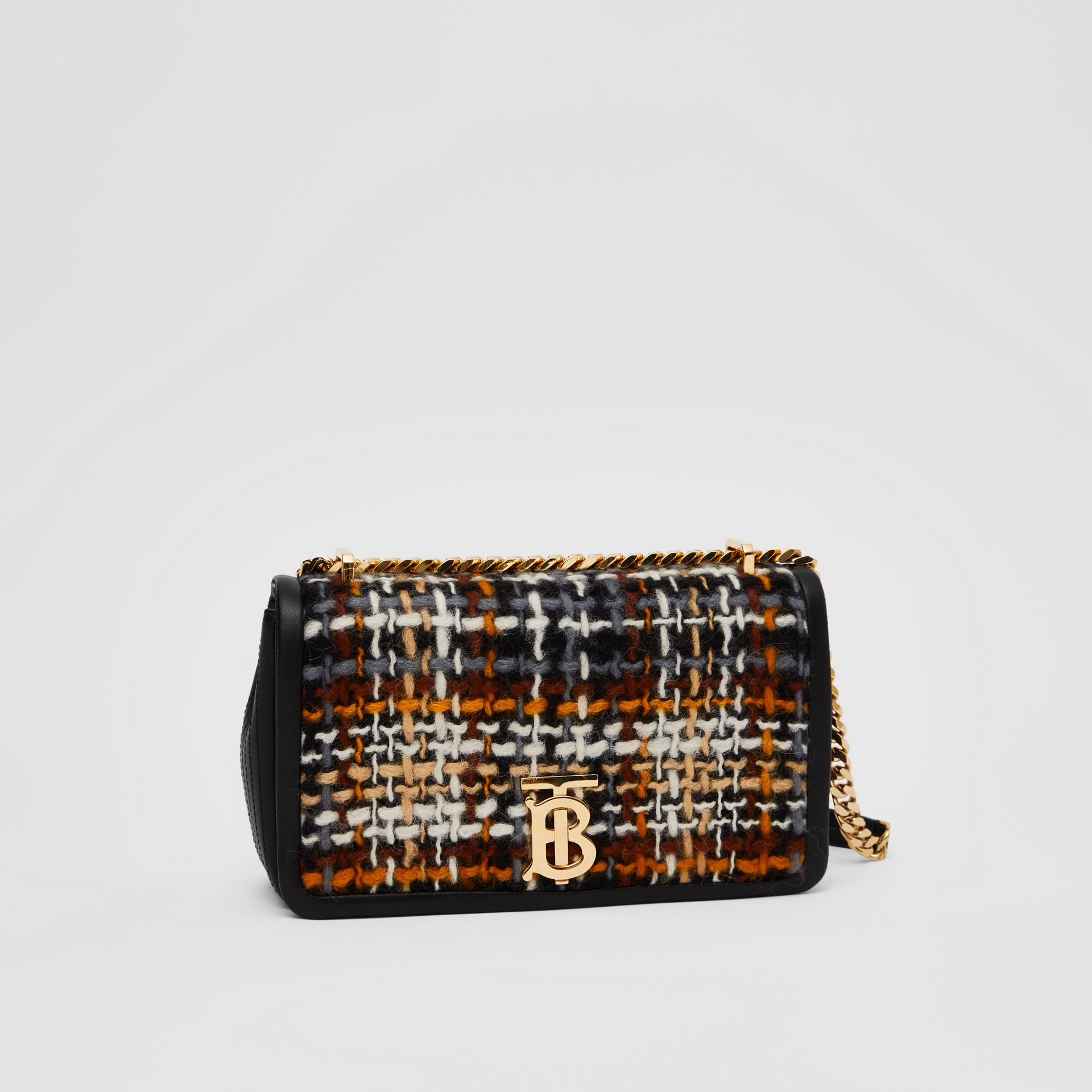 Small Tweed and Lambskin Lola Bag in Black - Women | Burberry Australia - gallery image 6