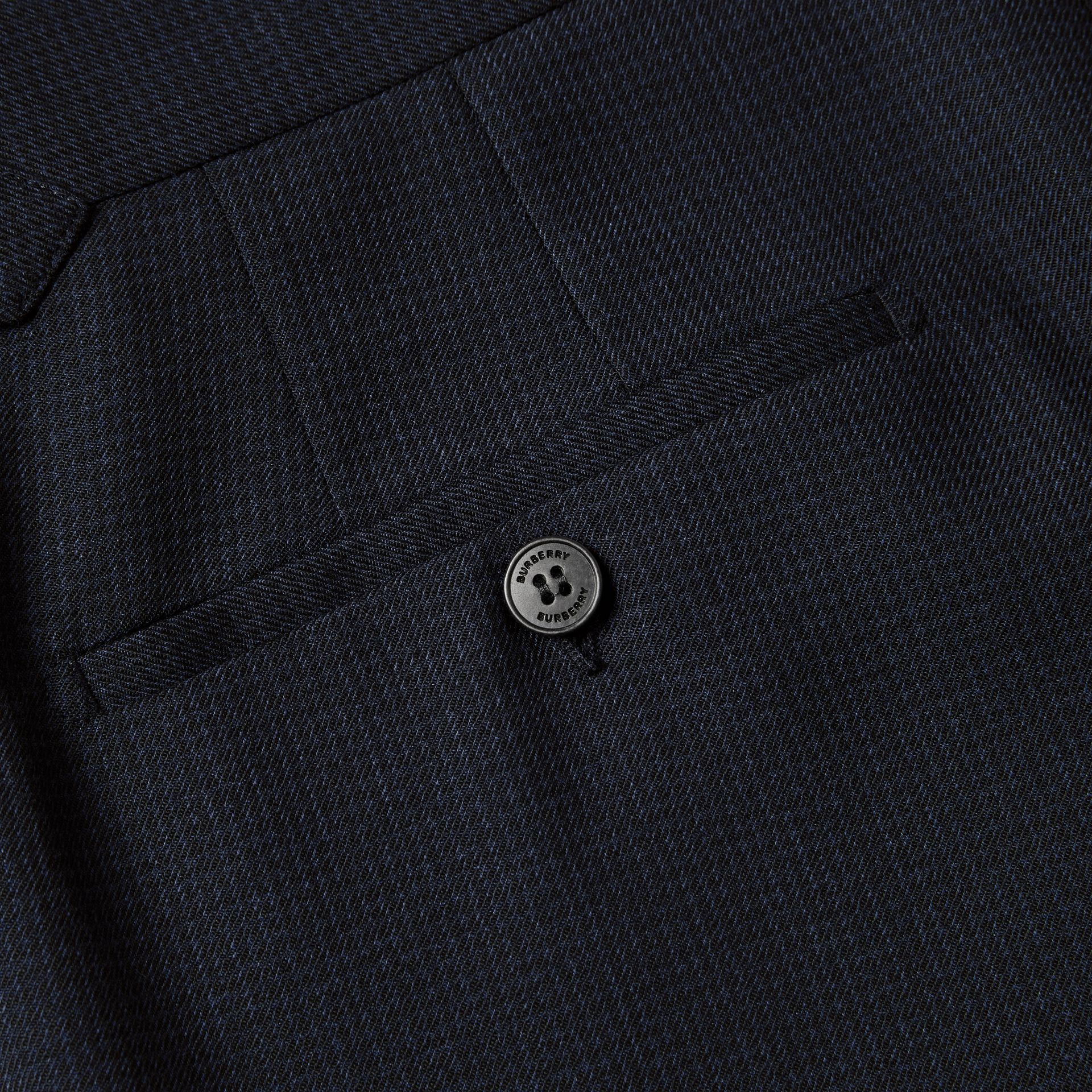 English Fit Puppytooth Check Wool Suit in Dark Navy - Men | Burberry - gallery image 9