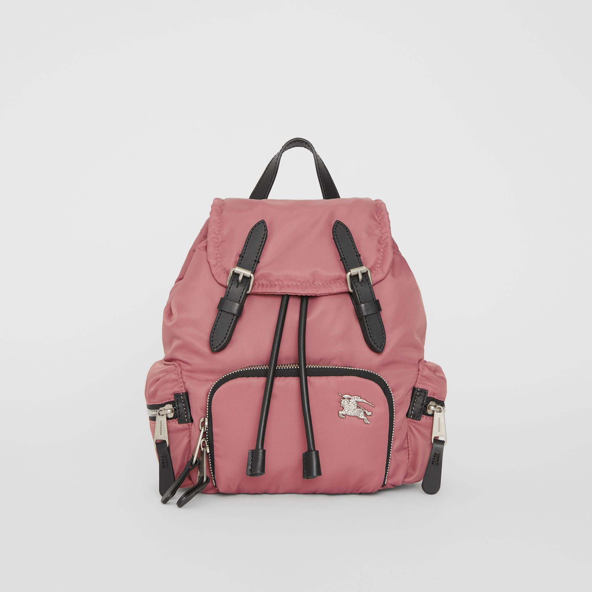 The Small Crossbody Rucksack in Puffer Nylon in Mauve Pink - Women | Burberry - gallery image 0