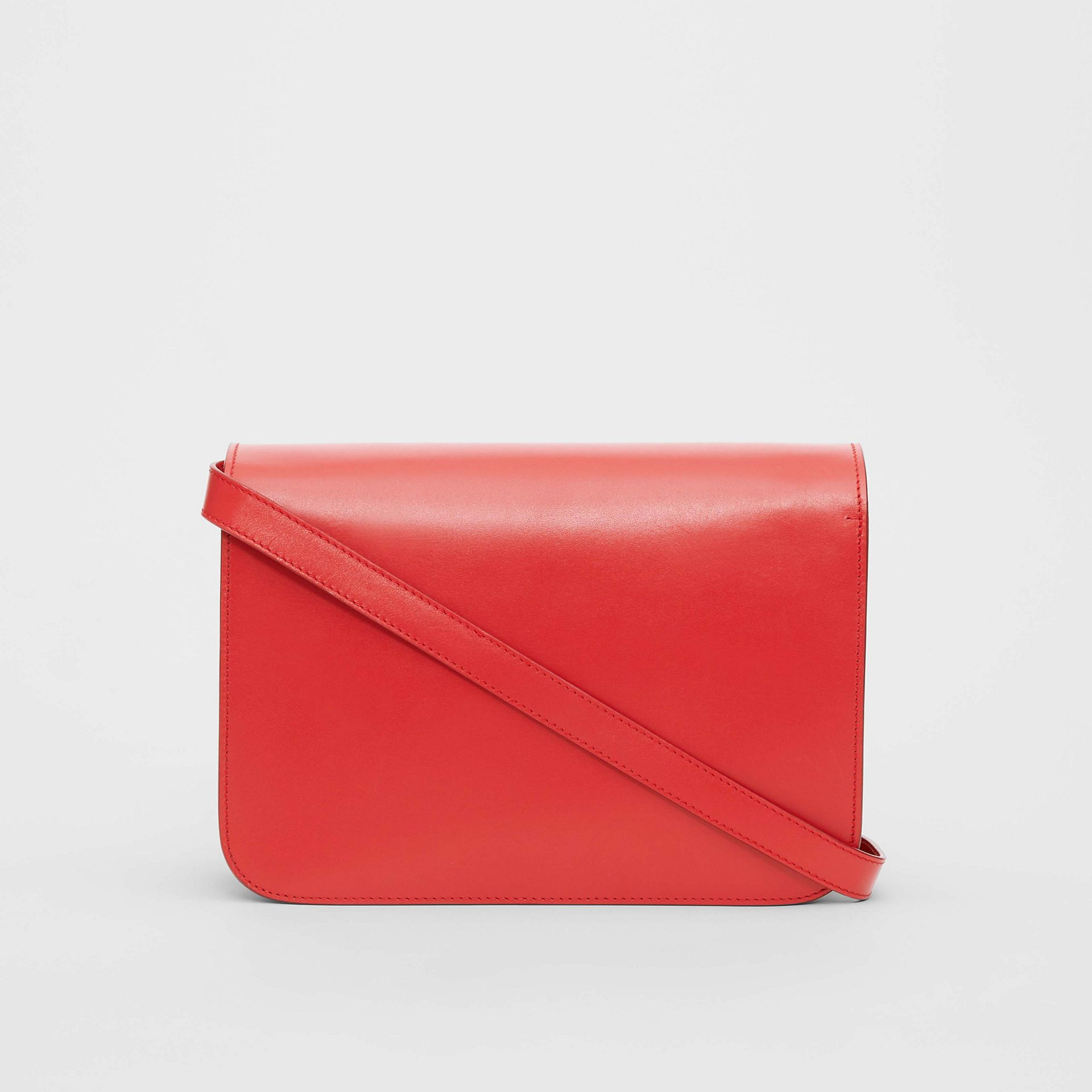 Medium Leather TB Bag in Bright Red - Women | Burberry United States - gallery image 7