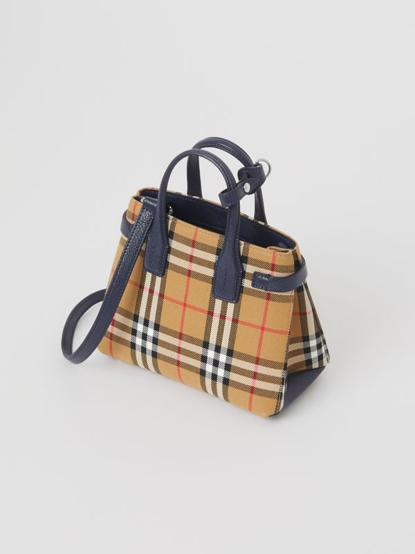 The Baby Banner in pelle con motivo Vintage check (Blu Reggenza) - Donna | Burberry - cell image 2