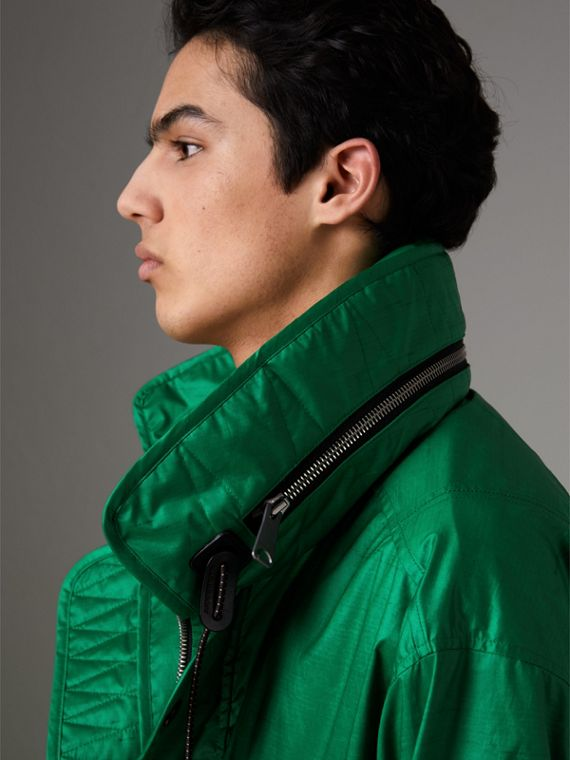 Packaway Hood Showerproof Jacket With Gilet in Vibrant Green