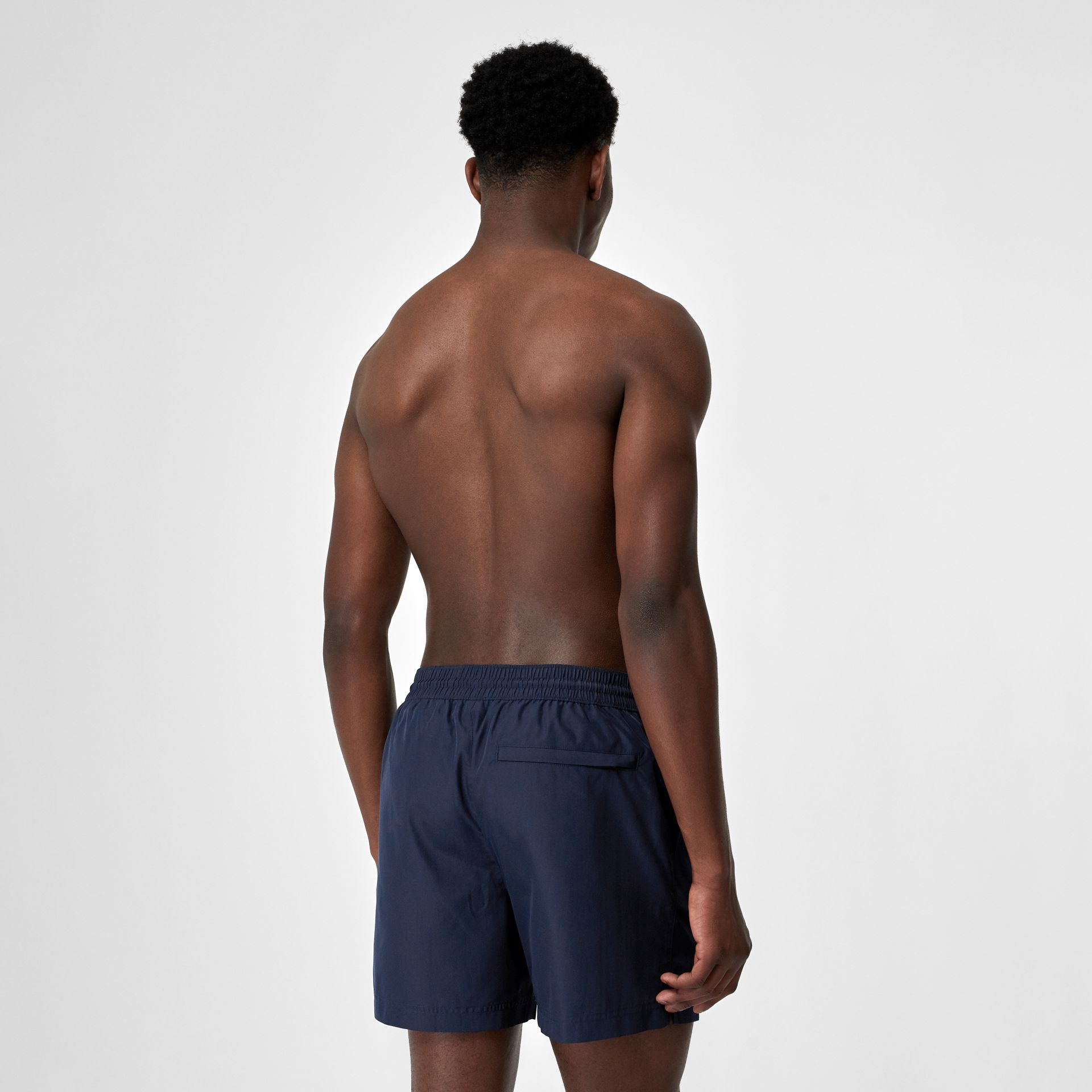 Logo Detail Drawcord Swim Shorts in True Navy - Men | Burberry - gallery image 1