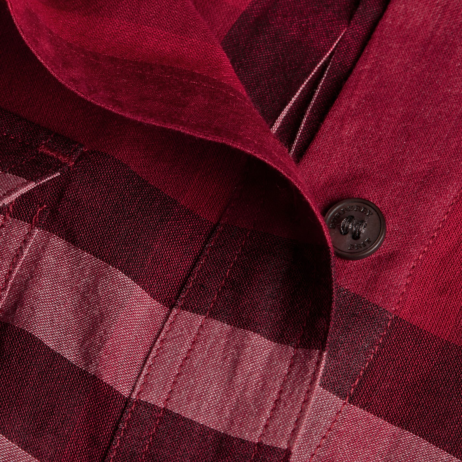 Poppy red Check Cotton Shirt Poppy Red - gallery image 2