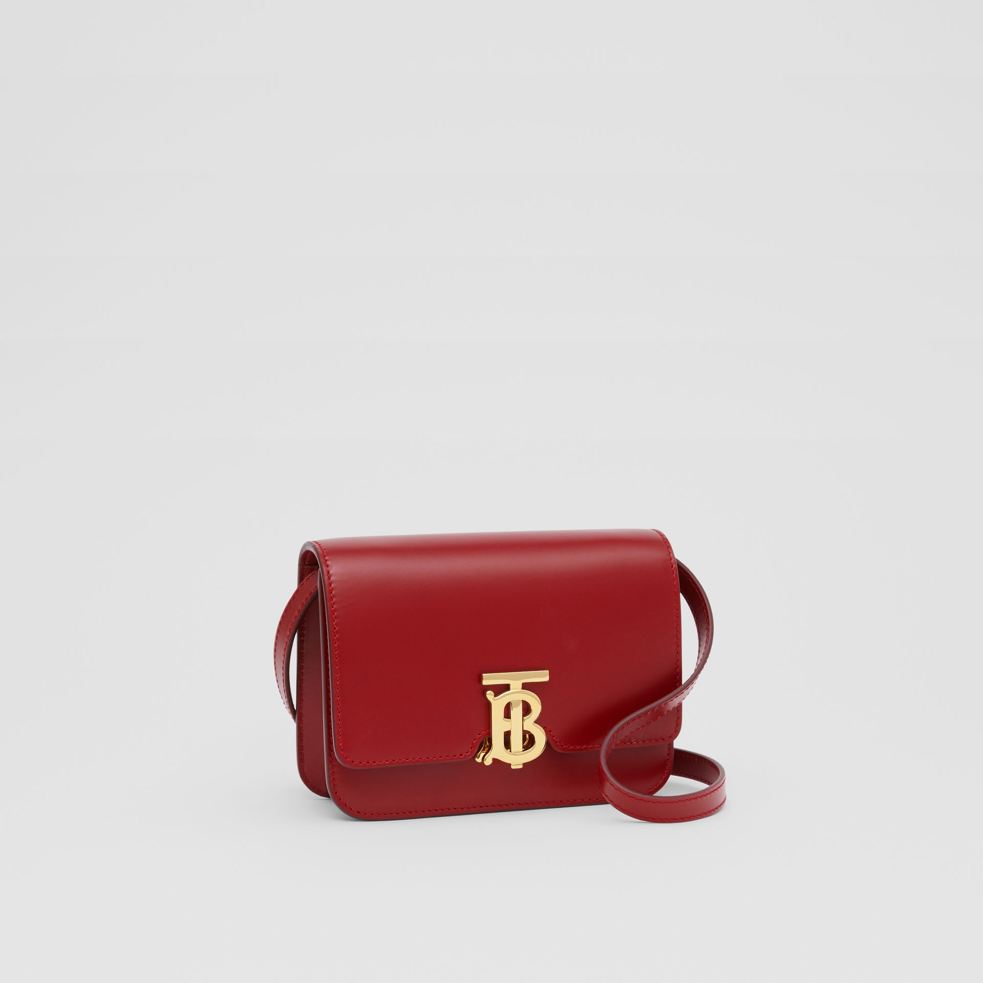 Mini Leather TB Bag in Dark Carmine - Women | Burberry - gallery image 6