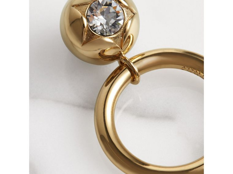 Crystal Charm Gold-plated Ring in Light Gold/crystal - Women | Burberry - cell image 1