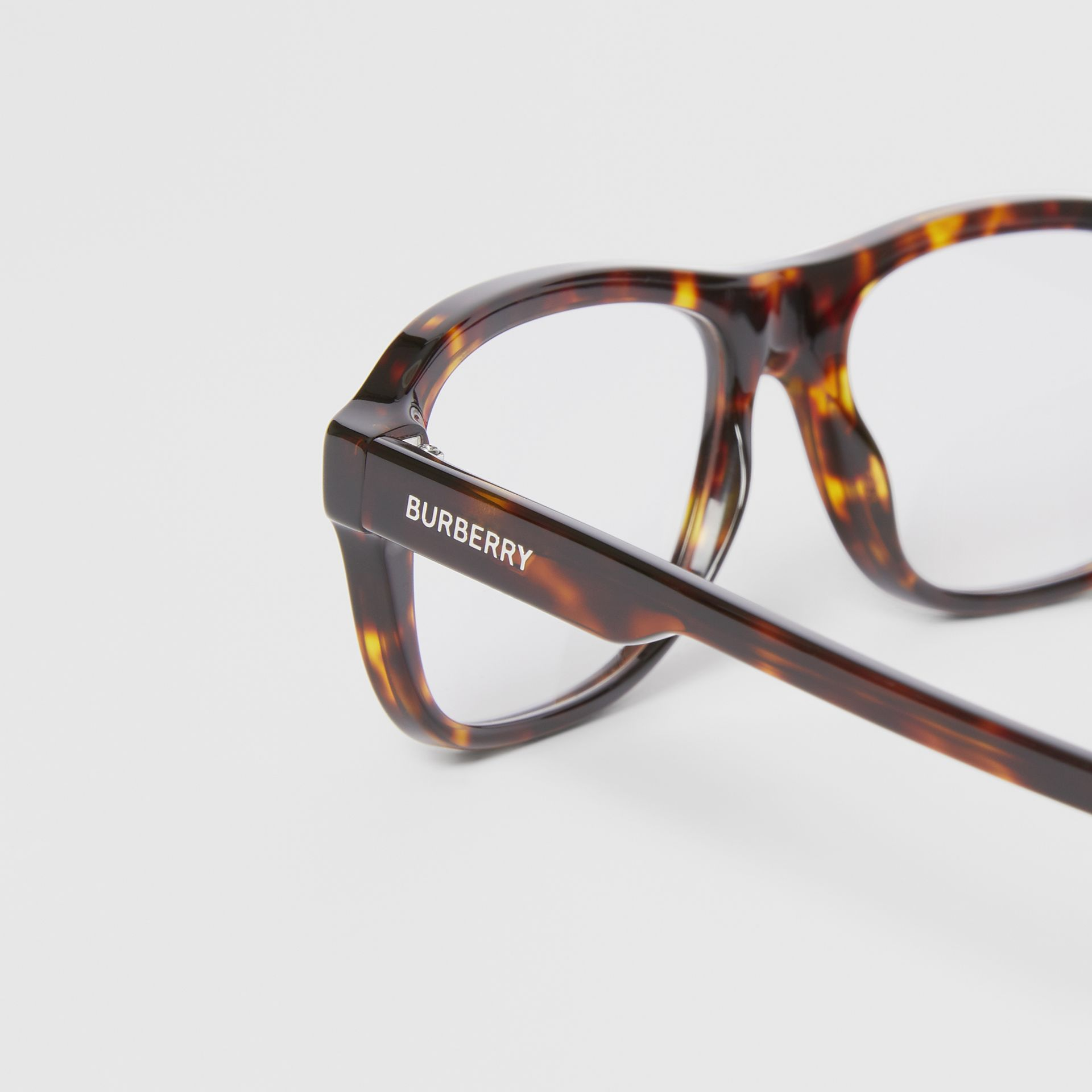 Rectangular Optical Frames in Tortoiseshell - Men | Burberry United States - gallery image 1