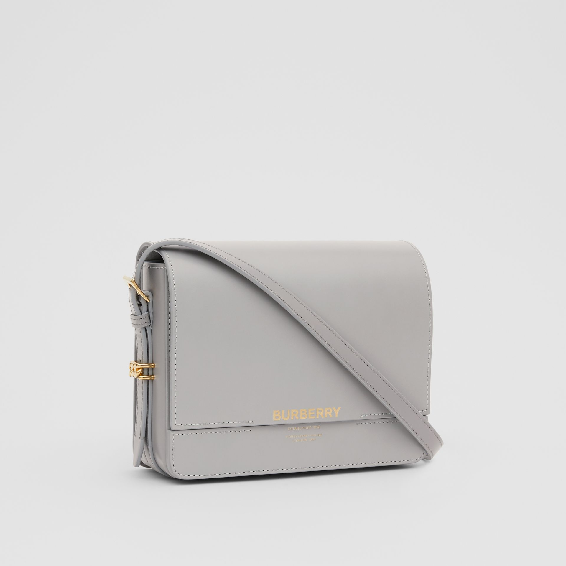 Small Two-tone Leather Grace Bag in Heather Grey/cloud Grey - Women | Burberry United Kingdom - gallery image 4