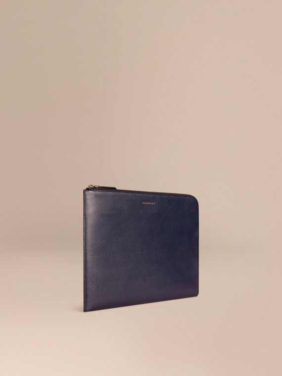 London Leather Document Case in Dark Navy