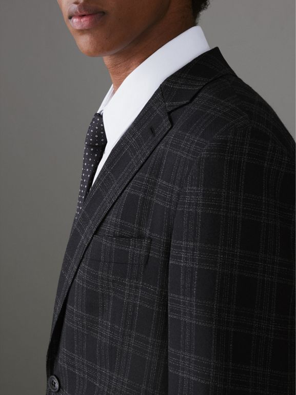 Soho Fit Check Wool Suit in Black - Men | Burberry Singapore - cell image 1