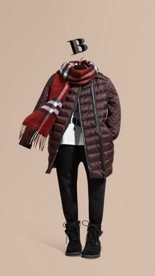 Panelled Down-filled Coat