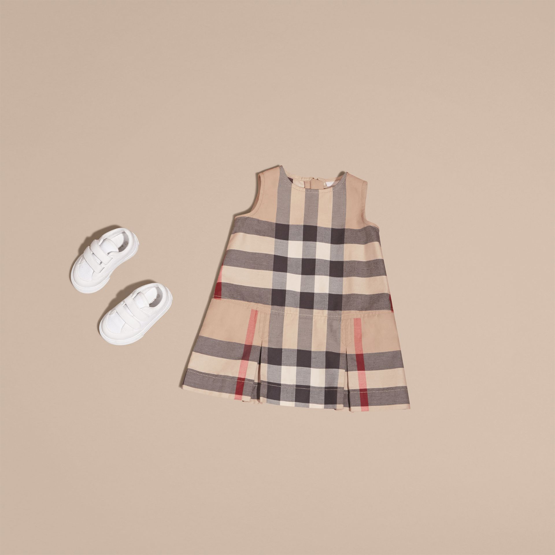 Washed Check Cotton Dress in New Classic | Burberry - gallery image 5