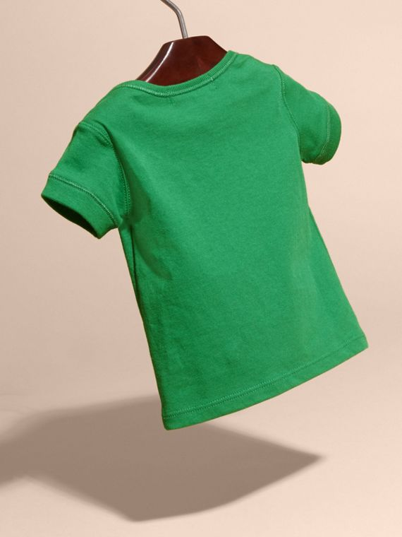 Check Pocket T-Shirt Bright Pigment Green - cell image 3