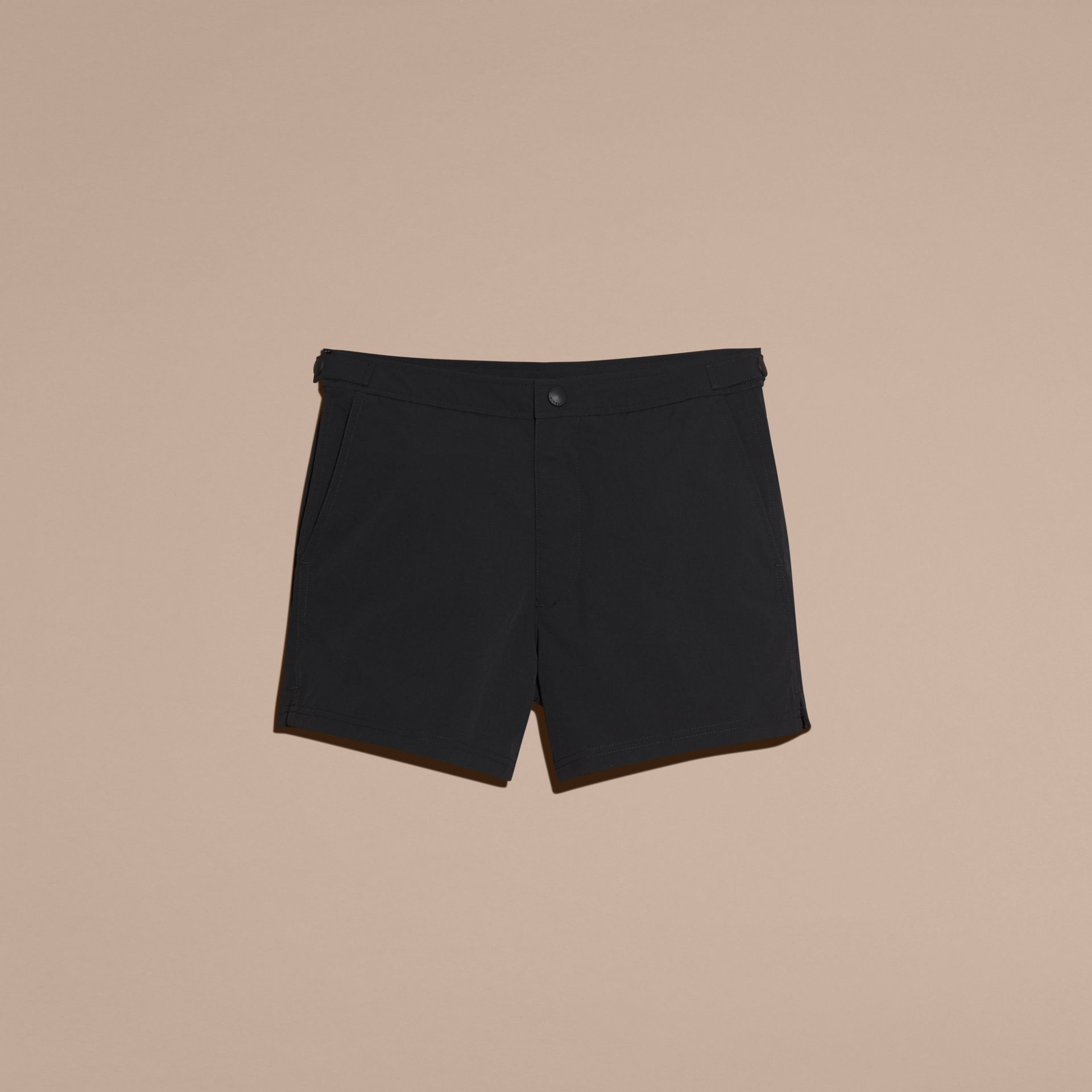 Black Tailored Swim Shorts Black - gallery image 4