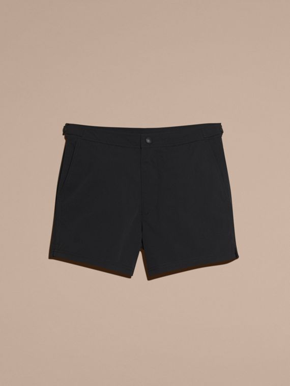 Tailored Swim Shorts in Black - Men | Burberry