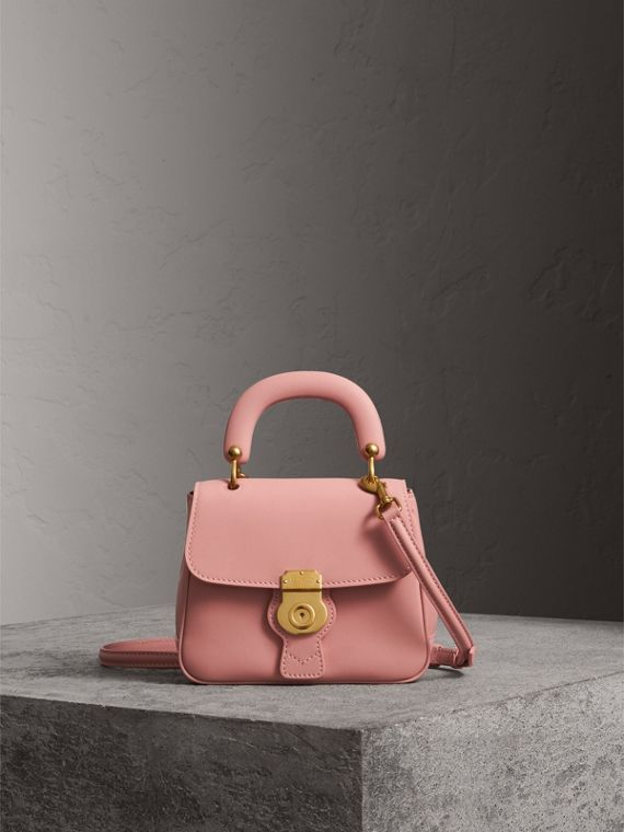 The Small DK88 Top Handle Bag in Ash Rose
