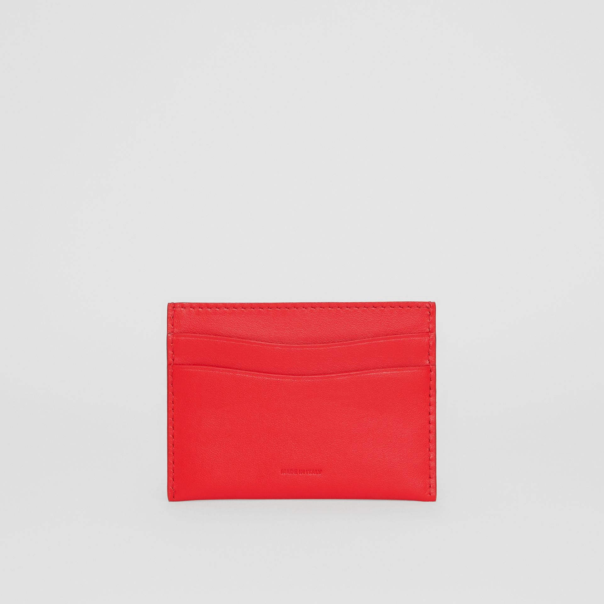 Quote Print Leather Card Case in Bright Military Red - Women | Burberry United Kingdom - gallery image 4