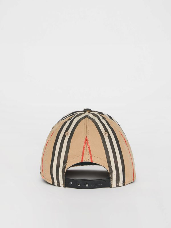 Icon Stripe Baseball Cap in Archive Beige | Burberry United Kingdom - cell image 3