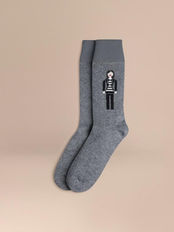 Chaussettes en cachemire à l'effigie de la Brit Girl
