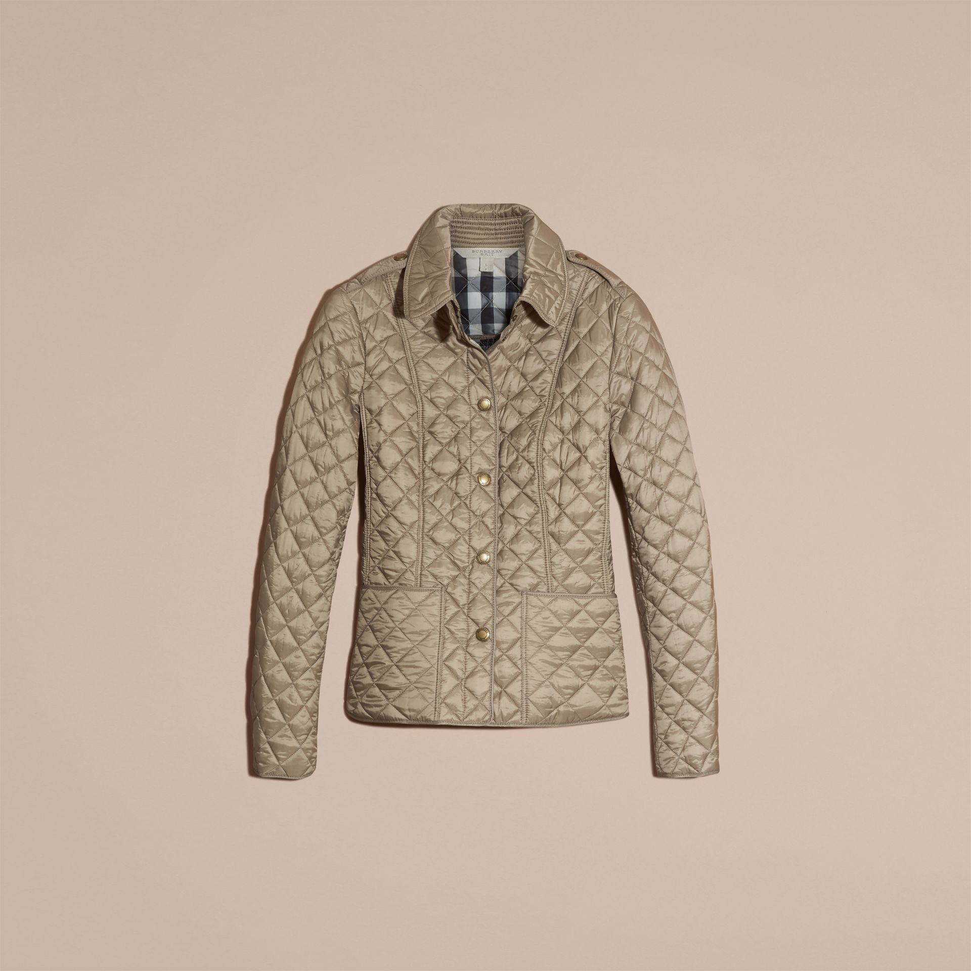 Pale fawn Diamond Quilted Jacket Pale Fawn - gallery image 4