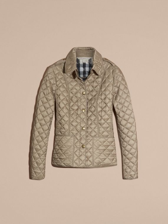 Pale fawn Diamond Quilted Jacket Pale Fawn - cell image 3
