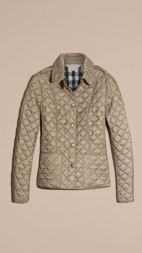 Pale fawn Diamond Quilted Jacket Pale Fawn - Image 4