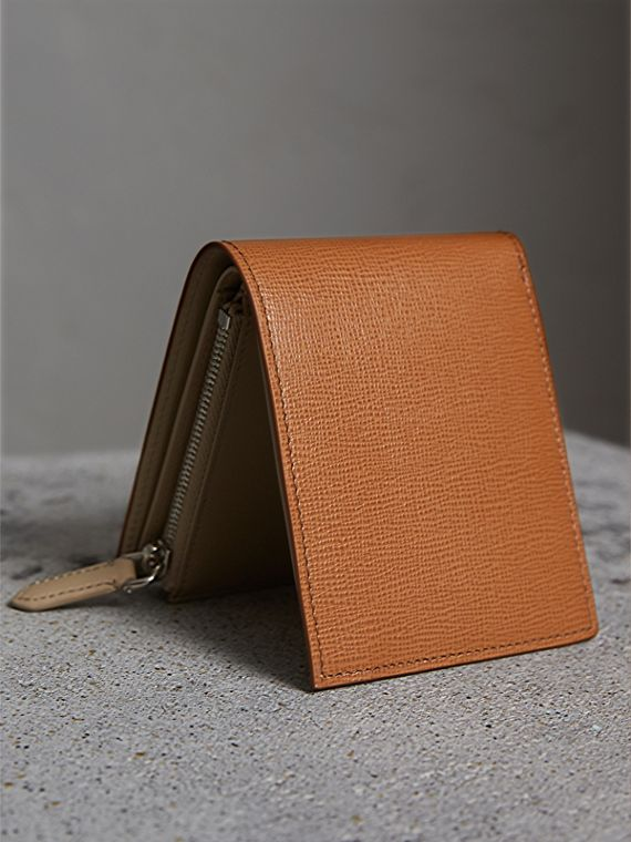 Leather International Bifold ID Coin Wallet in Tan | Burberry - cell image 3