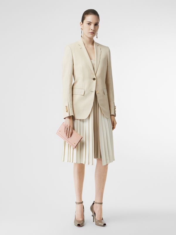 Portefeuille en cuir Monogram et sangle amovible (Beige Rose) - Femme | Burberry Canada - cell image 3