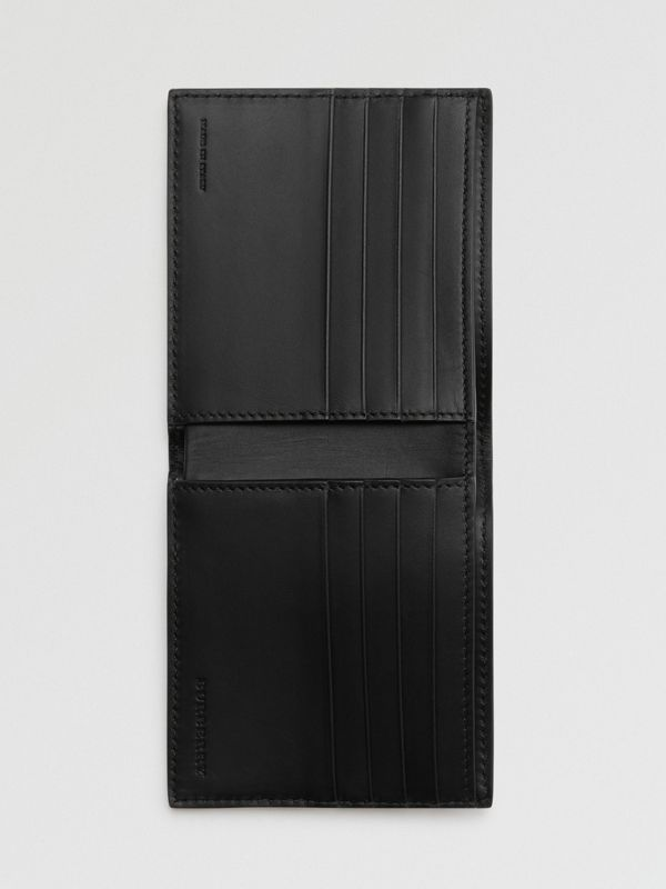 Grainy Leather International Bifold Wallet in Black - Men | Burberry Canada - cell image 2