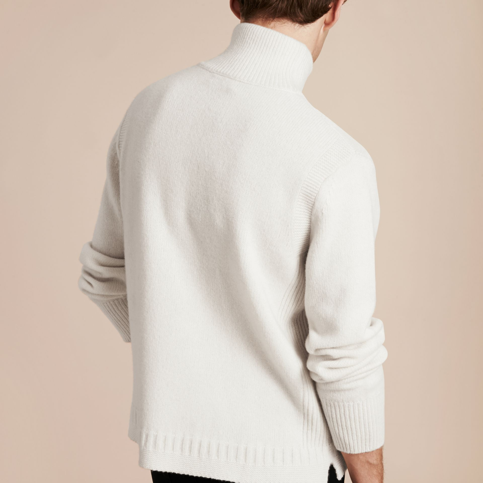 Natural white Funnel Neck Wool Sweater Natural White - gallery image 3
