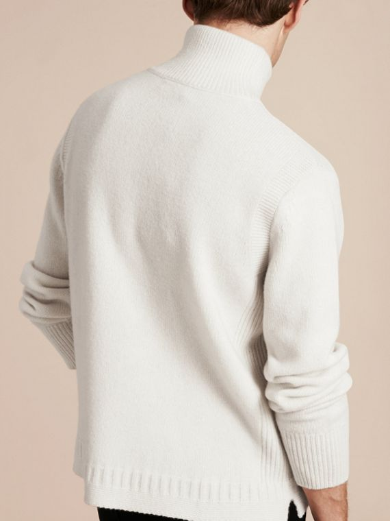 Natural white Funnel Neck Wool Sweater Natural White - cell image 2