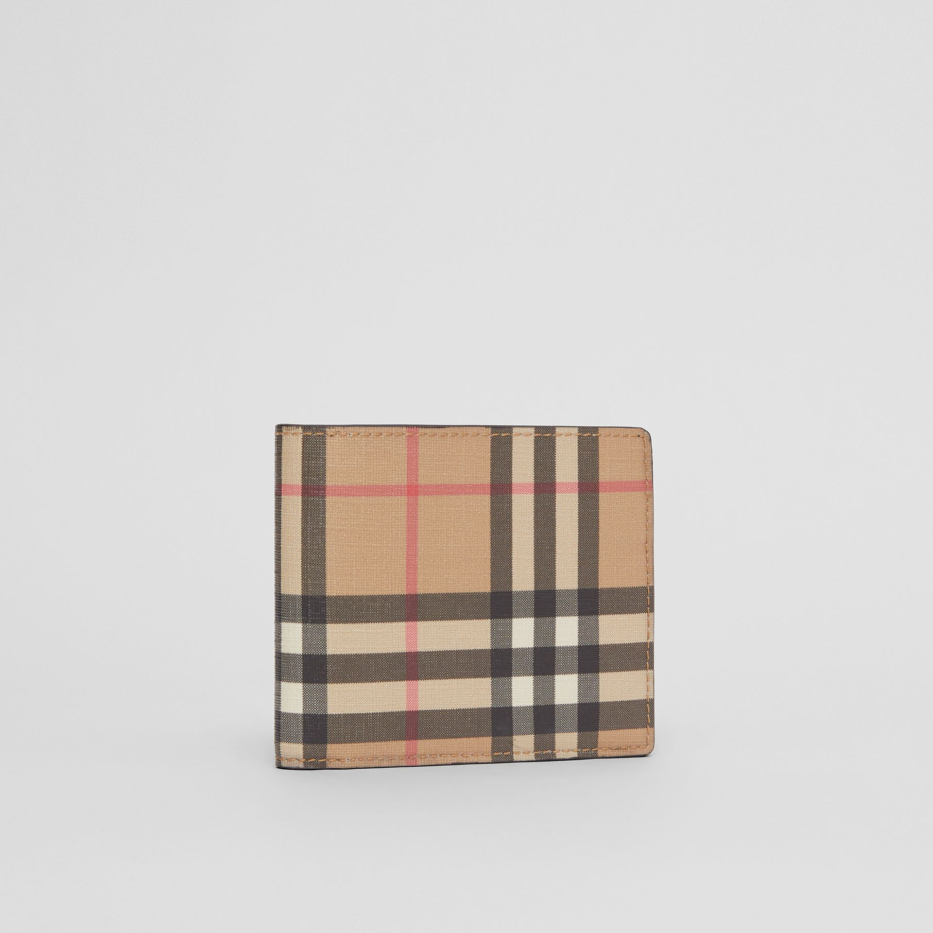 Vintage Check E-canvas Wallet with ID Card Case in Archive Beige - Men | Burberry - gallery image 3