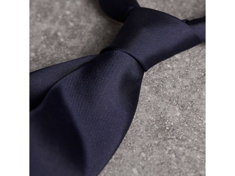 Modern Cut Silk Twill Tie in Navy - Men | Burberry United Kingdom - cell image 1