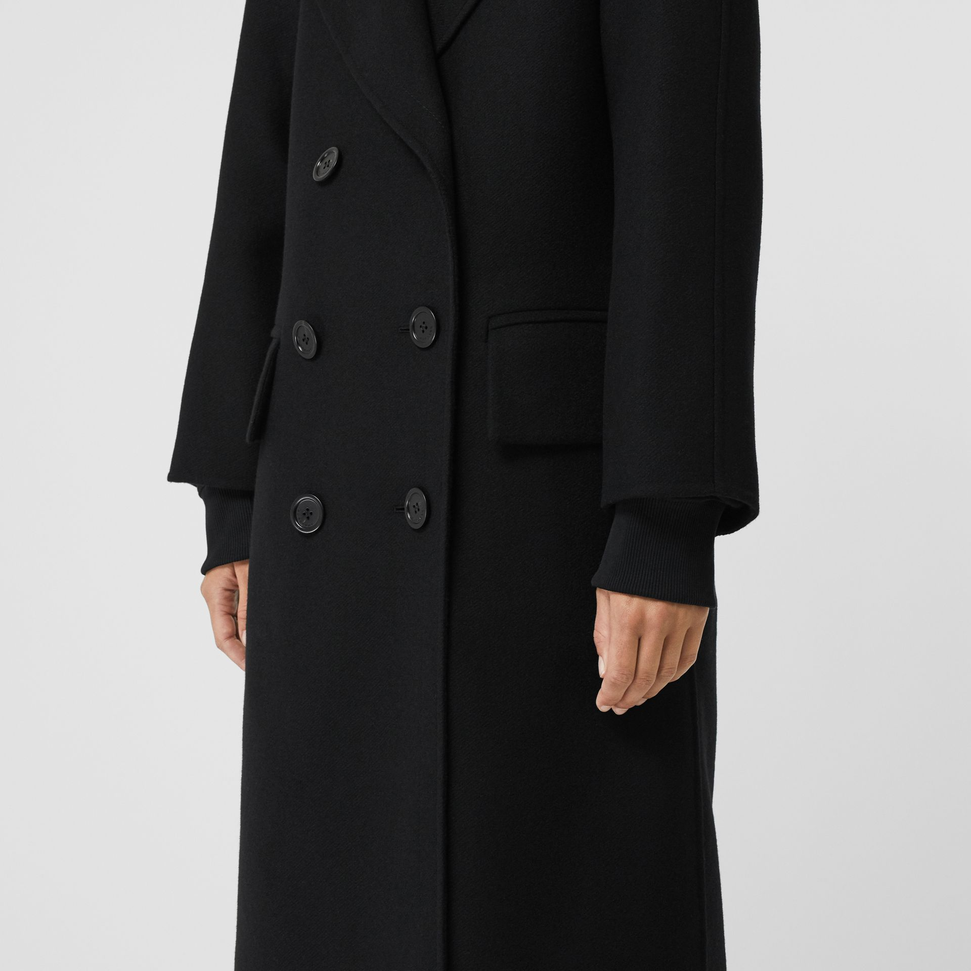 Double-faced Cashmere Tailored Coat in Black - Women | Burberry - gallery image 4