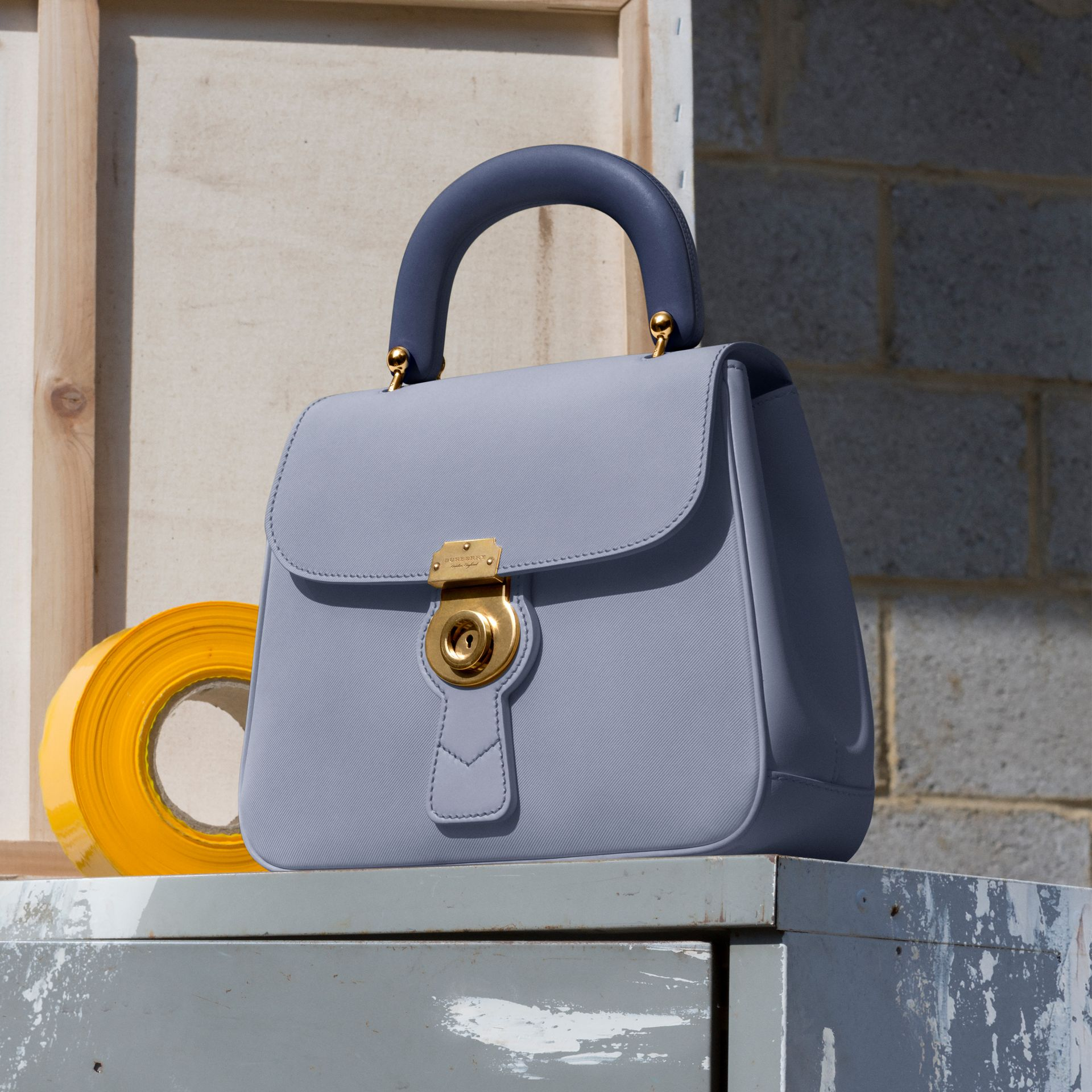 The Medium DK88 Top Handle Bag in Slate Blue - Women | Burberry - gallery image 7