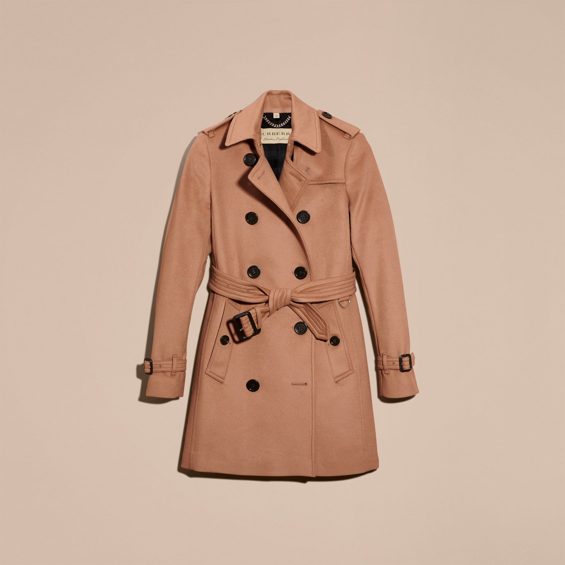 Wool Cashmere Trench Coat in Camel - Women | Burberry - gallery image 4