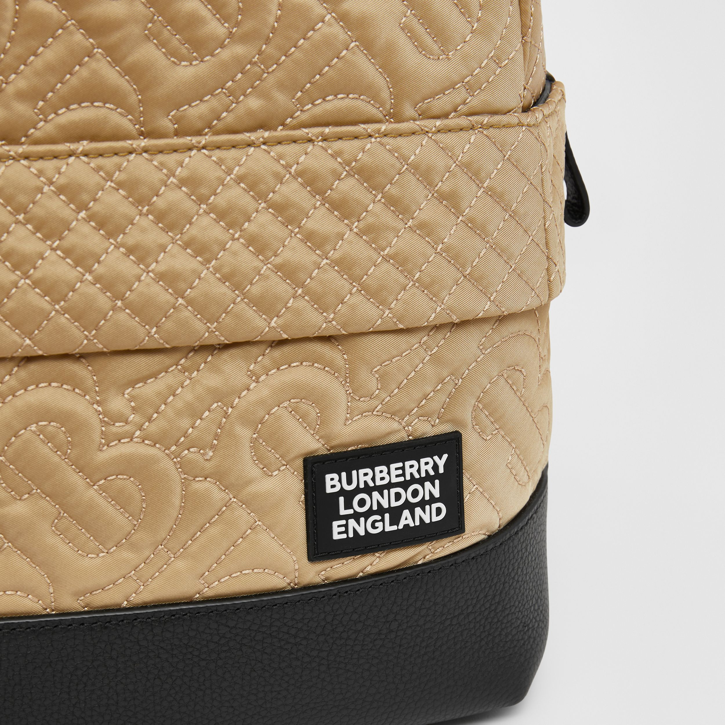 Monogram Quilted ECONYL® Backpack in Archive Beige - Children | Burberry - 2