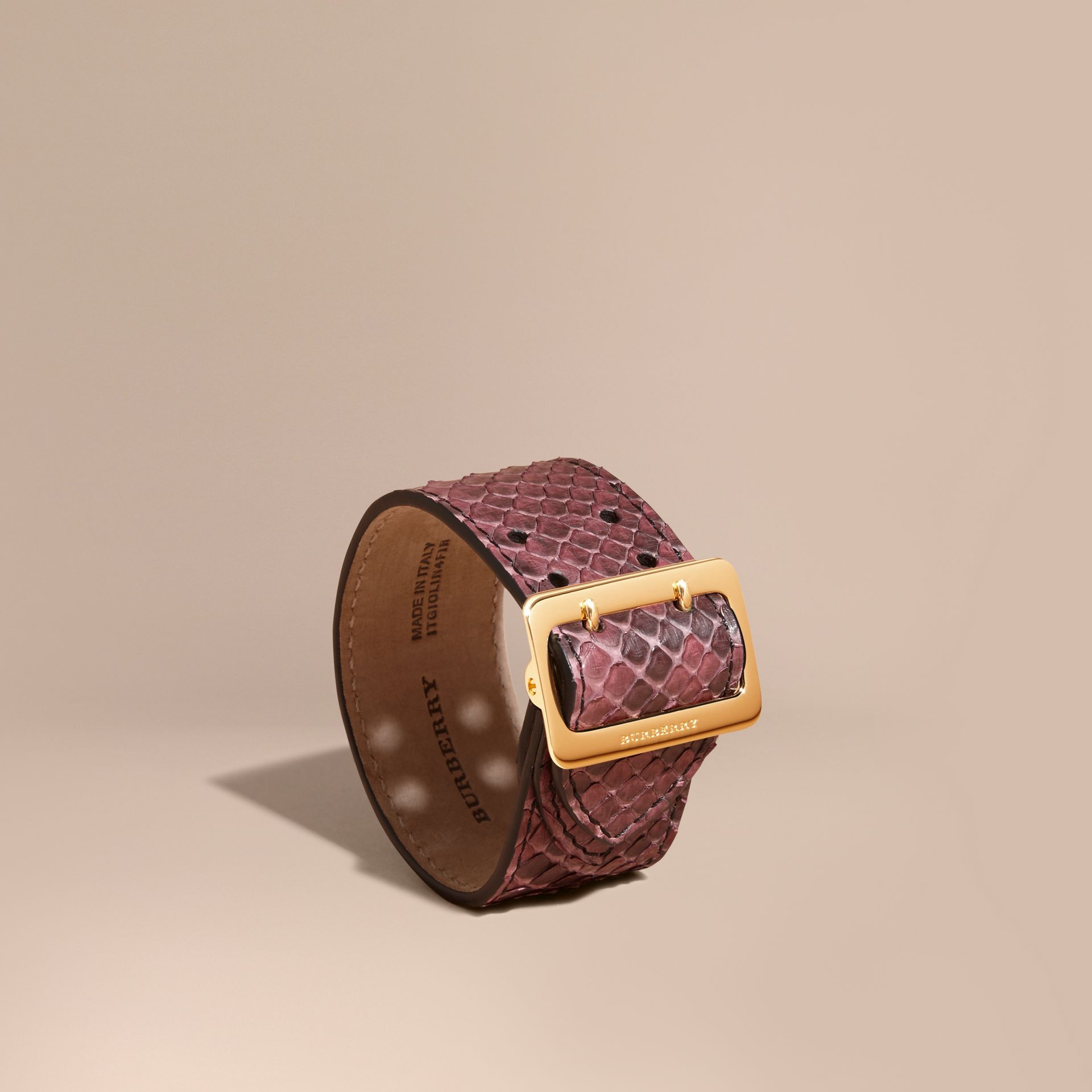 Python Cuff in Elderberry - Women | Burberry - gallery image 1