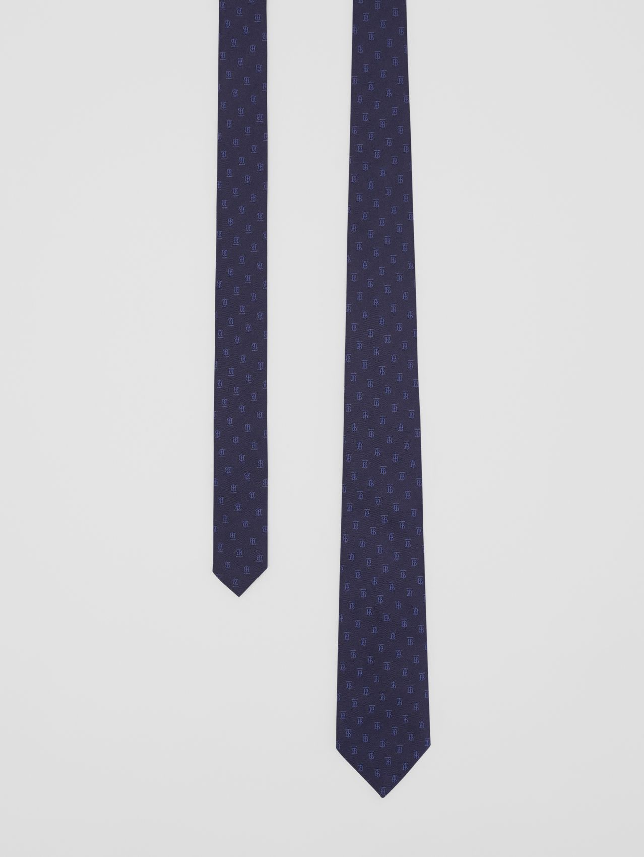 Classic Cut Monogram Motif Silk Jacquard Tie in Navy