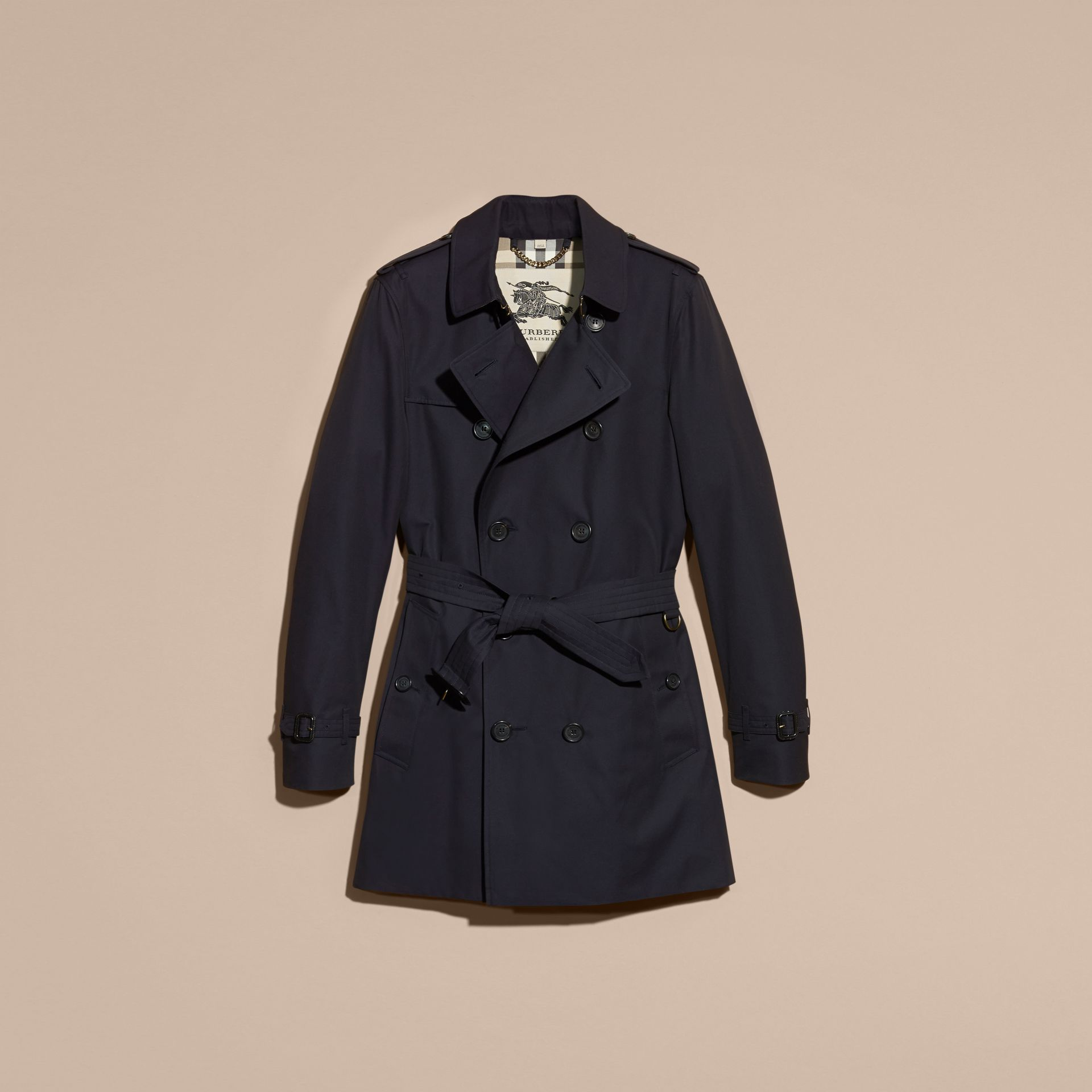 Marine The Sandringham – Trench-coat Heritage mi-long Marine - photo de la galerie 4