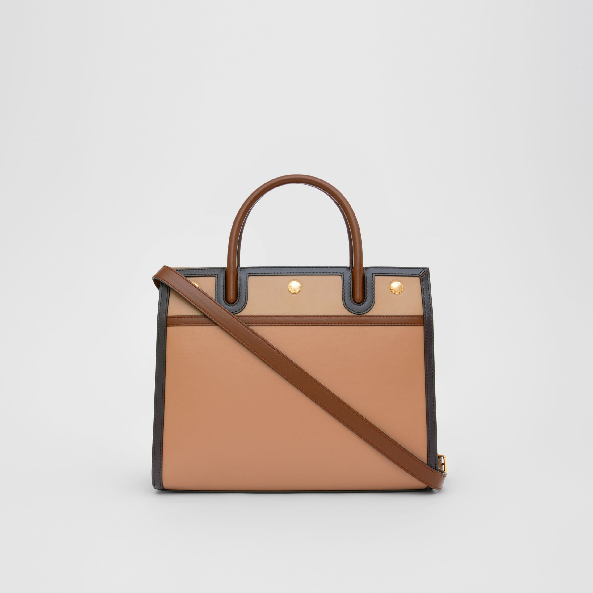 Small Leather Two-handle Title Bag in Soft Fawn - Women | Burberry - gallery image 7