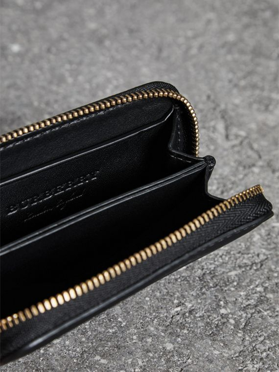 Trench Leather Ziparound Coin Case in Black - Men | Burberry United Kingdom - cell image 3