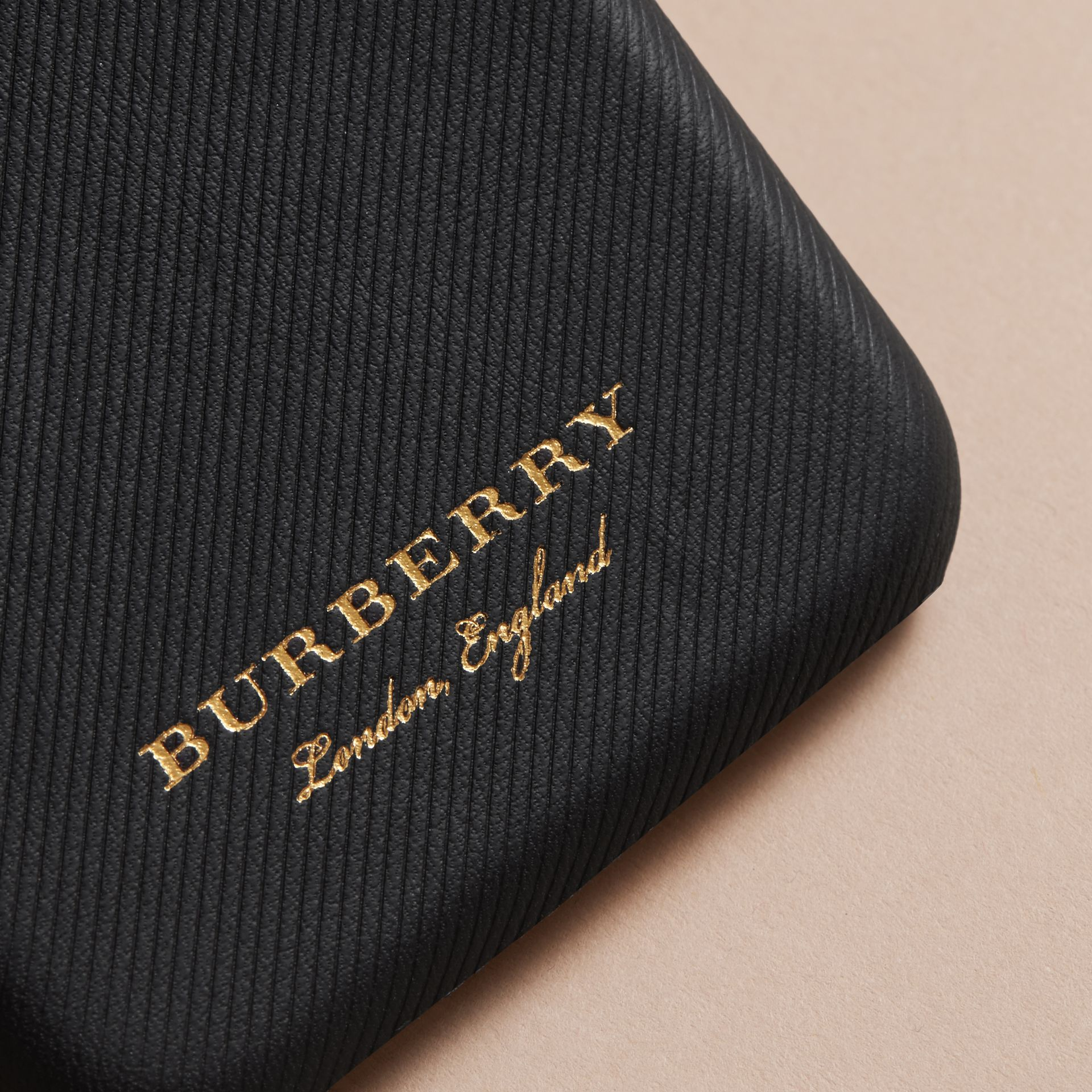 Trench Leather iPhone 7 Case in Black | Burberry Australia - gallery image 1