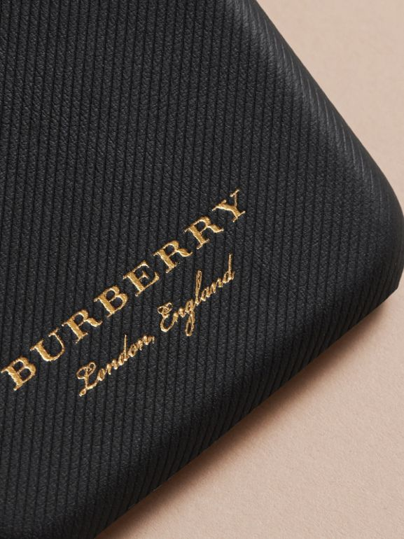 Trench Leather iPhone 7 Case in Black | Burberry United Kingdom - cell image 1