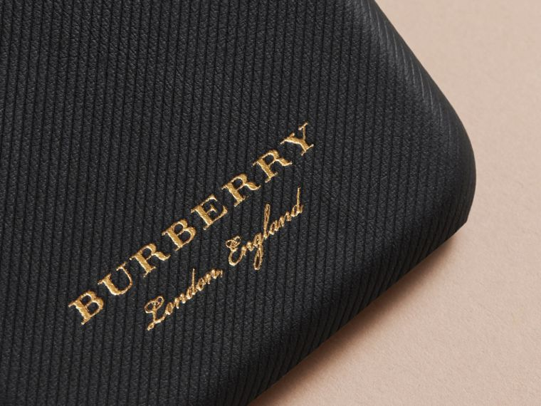 Trench Leather iPhone 7 Case in Black | Burberry Australia - cell image 1
