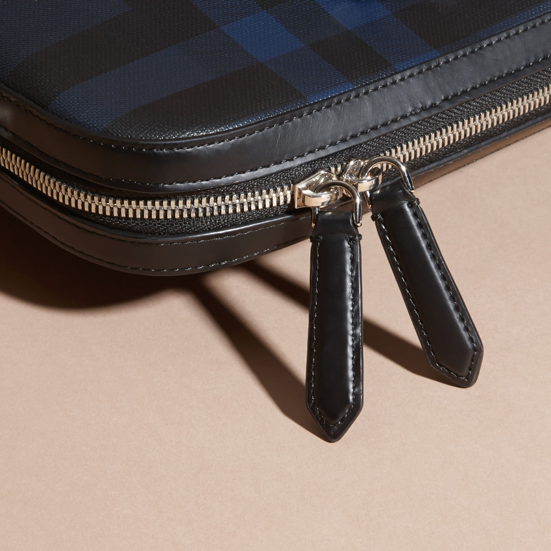 The Slim Barrow in London Check in Navy/black - Men | Burberry Singapore - gallery image 6