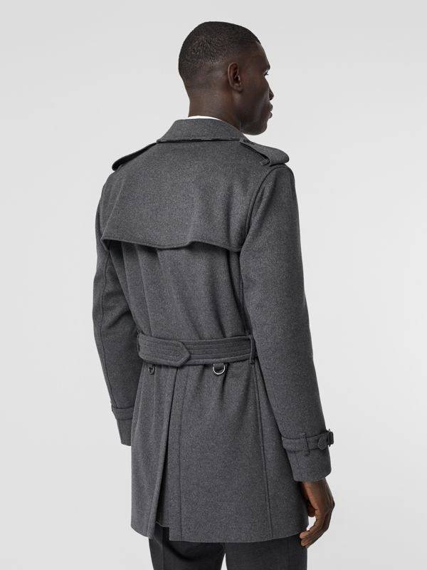 Wool Cashmere Trench Coat in Charcoal - Men | Burberry Hong Kong S.A.R - cell image 2