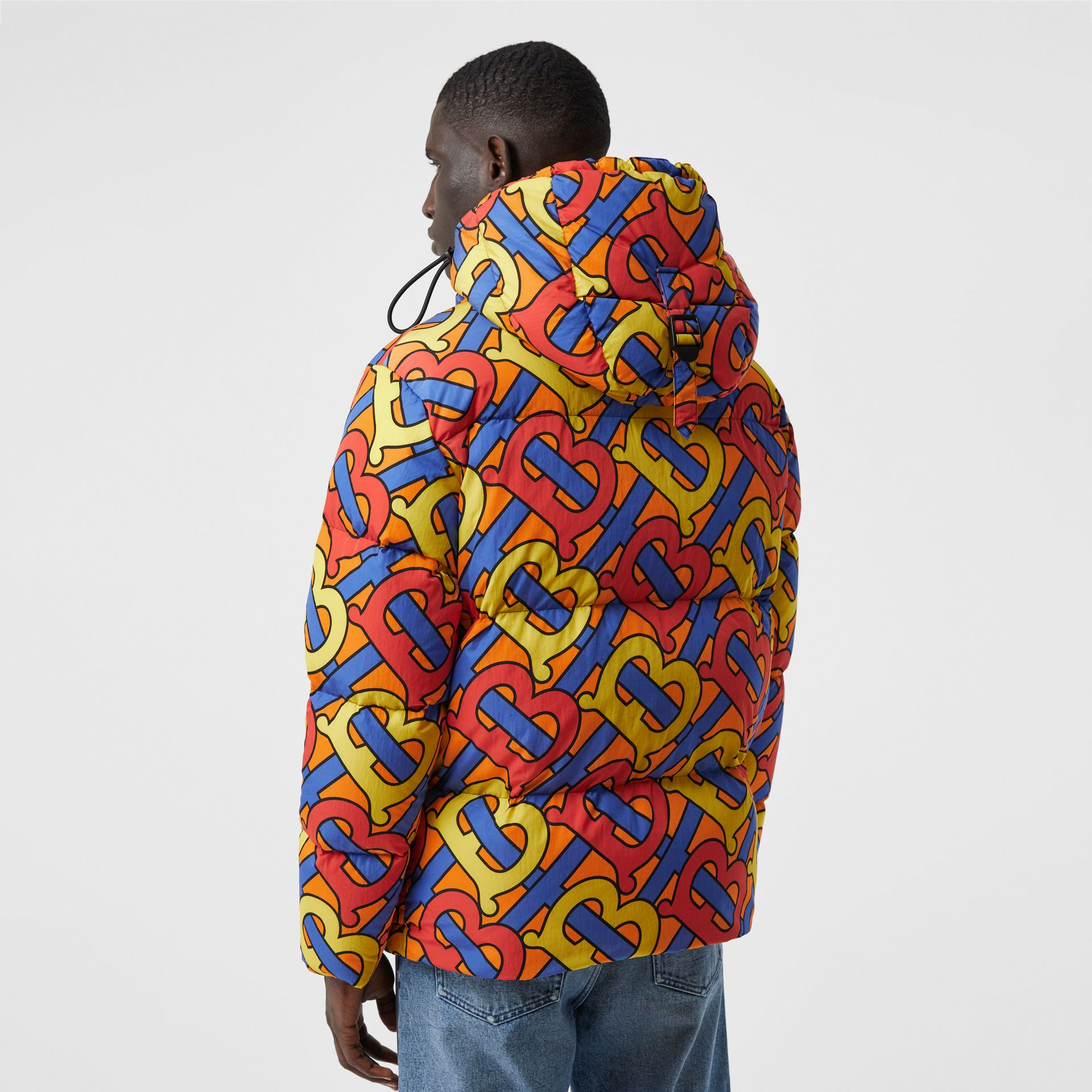 Monogram Print Puffer Jacket in Multicolour | Burberry - gallery image 6